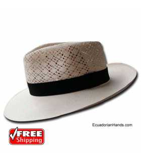 PREMIUM Fedora SemiCalado Montecristi Panama Hat