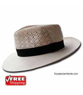 Fedora SemiCalado Sombrero de Panamá Montecristi