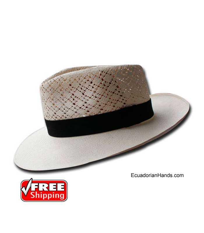 Fedora SemiCalado Montecristi Panama Hat
