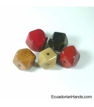 Diamond 14c 21x20mm Tagua Bead (7 units)