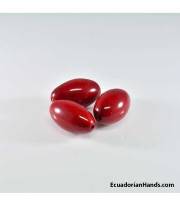 Egg 19x15mm Tagua Bugle Bead (1 unit)