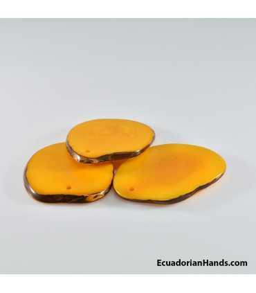 Flat Slice 3mm Tagua Bead (10 units)