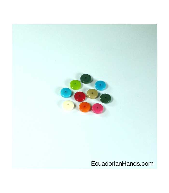 Cylinder A 9mm Tagua Seed Beads (200 units)