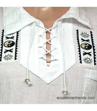Otavalo Shirt Hand Embroidered 100% Cotton