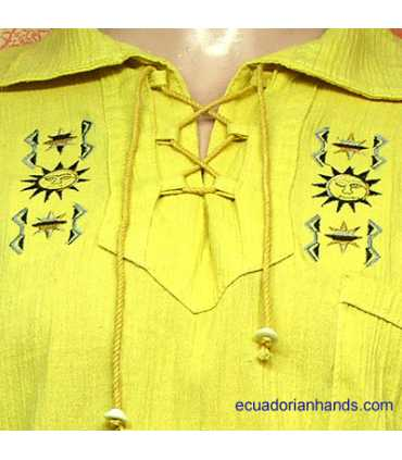 Otavalo Shirt Hand Embroidered 100% Cotton