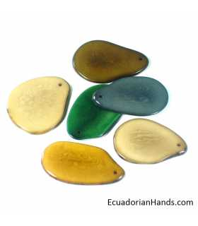 Flat Slice 3mm Tagua Bead (10 units)