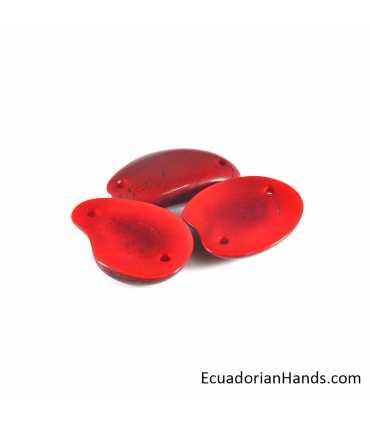 Tajada 2 huecos Abalorios Tagua (8 unidad)