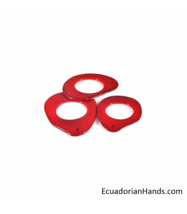 Fried Potato hole Tagua Bead (16 units)