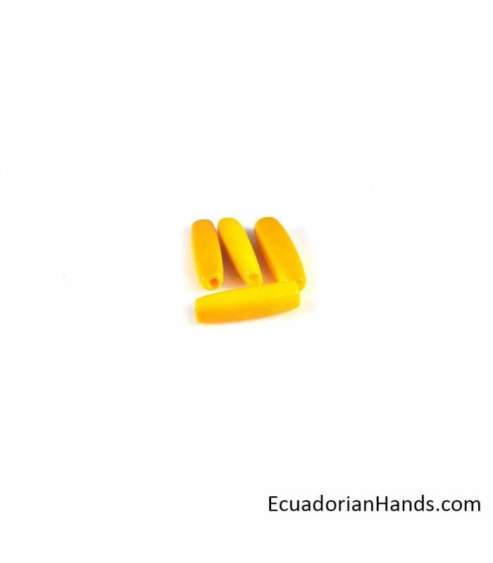 Canutillo Grande Abalorios Tagua (20 unidades)