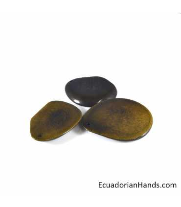 Flat Slice 37mm Tagua Bead (30 units)