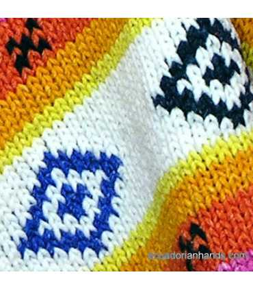 Womens wool Poncho with Long Pointy Hood Hood HandWoven