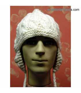 Braided Wool Cap with Ears for Men HandWoven