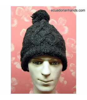 Braided Wool Cap for Men HandWoven