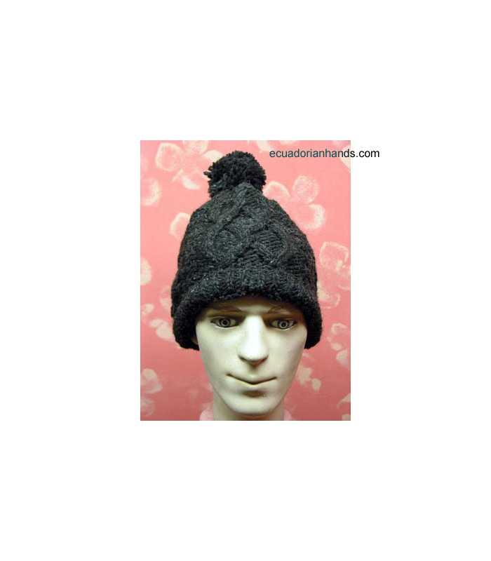 Braided Wool Cap for Men HandWoven