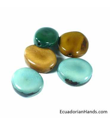 Piedra Pulida Abalorios Tagua (8 unids)
