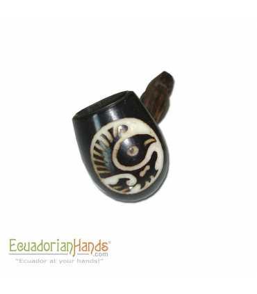 250 Handmade Smoking Pipes, Eco Ivory Tagua, Standard-black