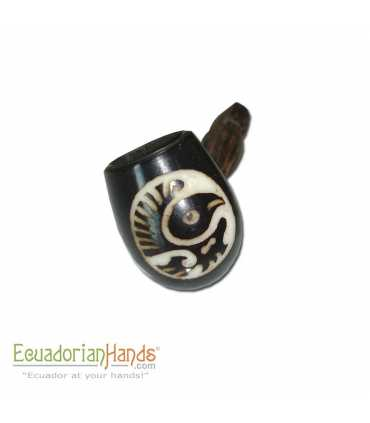 250 Pipas artesanales, Marfil Exótico Tagua, Standard-blanca
