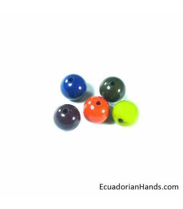Perlas 15mm Abalorios Tagua (10 unids)