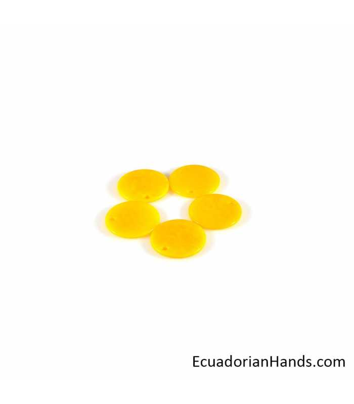 Thin Tab Lin 28 Tagua Bead (35 units)