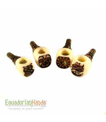 250 Handmade Smoking Pipes eco ivory tagua, Popeye model