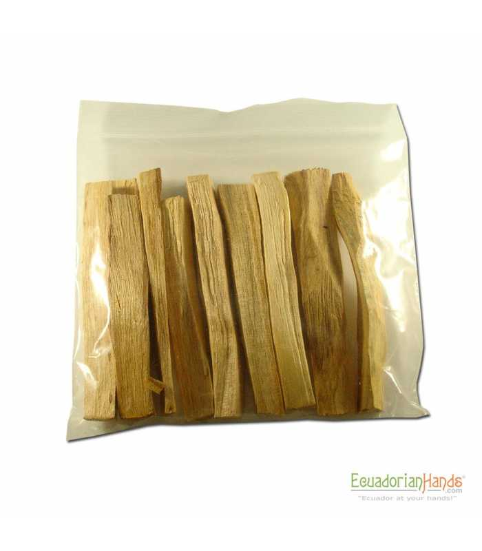 10 incense sticks palosanto, ziploc 15x15cm, NO LABEL