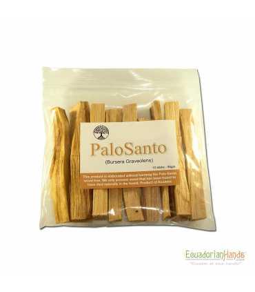 10 incense sticks palosanto, ziploc 15x15cm, w/label