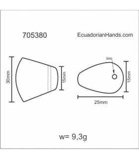 Ax 28-33 Tagua Bead (5 units) YELLOW