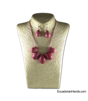 Set Necklace & Earrings | Wholesale Tagua Jewelry Handmade EcoIvory - JC001-M4
