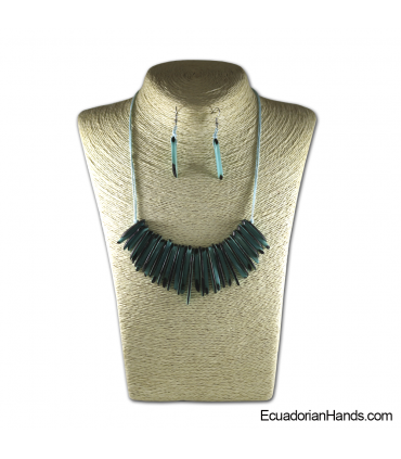 Set Necklace & Earrings | Wholesale Tagua Jewelry Handmade EcoIvory - JC001-M5