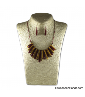 Set Necklace & Earrings | Wholesale Tagua Jewelry Handmade EcoIvory - JC001-M05