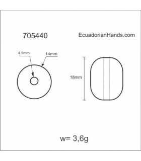 Plum 20x15mm 1h Tagua Bugle Bead (10 units) YELLOW