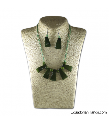 Set Necklace & Earrings | Wholesale Tagua Jewelry Handmade EcoIvory - JC001-M6