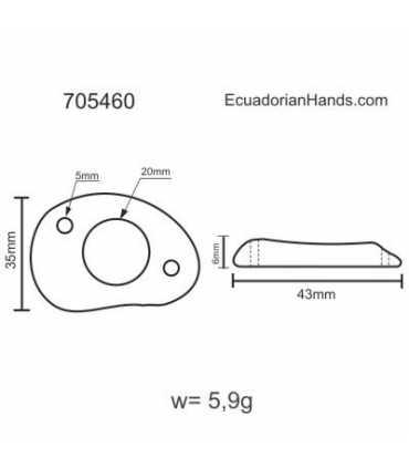 Slice 45 Hole 18mm 2h Tagua Bead (8 units) YELLOW