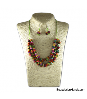 Set Necklace & Earrings | Wholesale Tagua Jewelry Handmade EcoIvory - JC002-M01