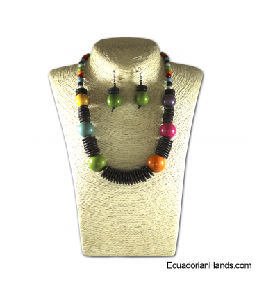 Set Necklace & Earrings | Wholesale Tagua Jewelry Handmade EcoIvory - JC002-M02