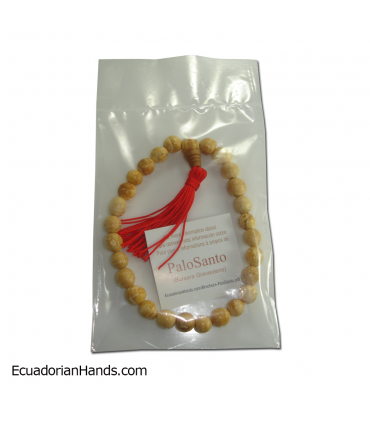 Japa Mala Bracelet 27ct palo santo prayer beads (1 unit)
