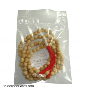 Japa Mala Necklace 108ct palo santo prayer beads (1 unit)