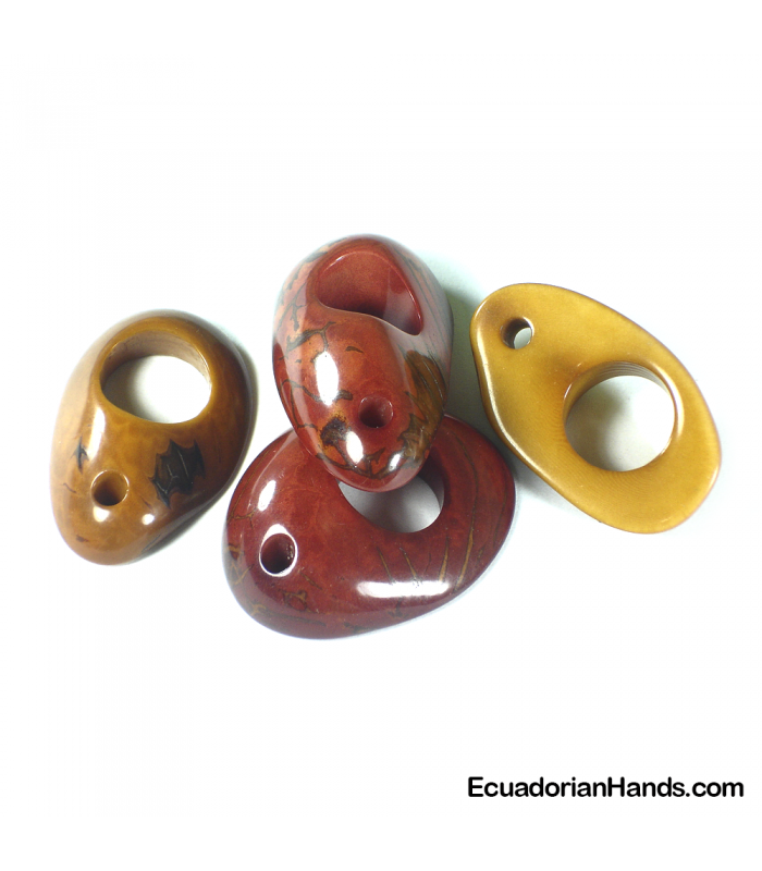 Donut H15mm Tagua Bead (8 units)