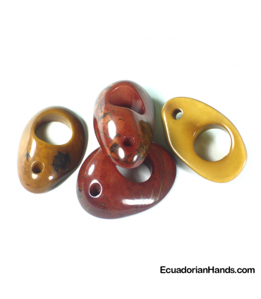 Donut H15mm Tagua Bead (1 unit)