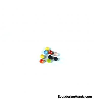 Perlas 5mm Abalorios Tagua (200 unidades)