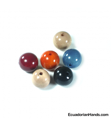 Pearl 20mm Tagua Bead (1 unit)