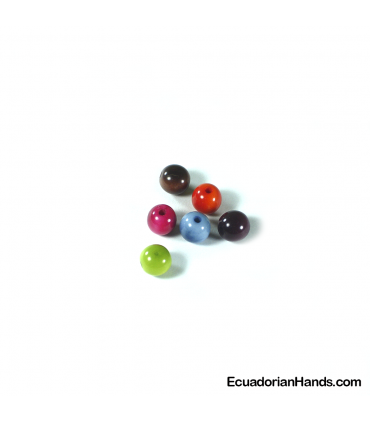 Pearl 10mm Tagua Bead (1 unit)