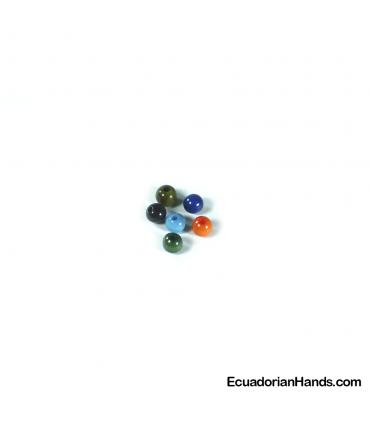 Perlas 6mm Abalorios Tagua (100 unids)