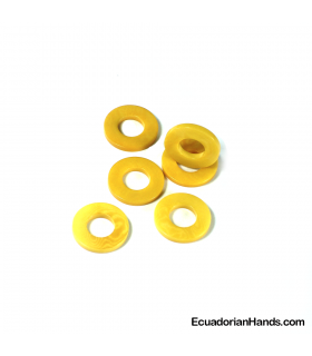 Wheel 22mm Tagua Bead (25 units)