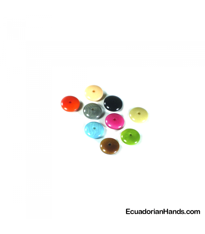 Lentil 11mm Tagua Bead (1 unit)