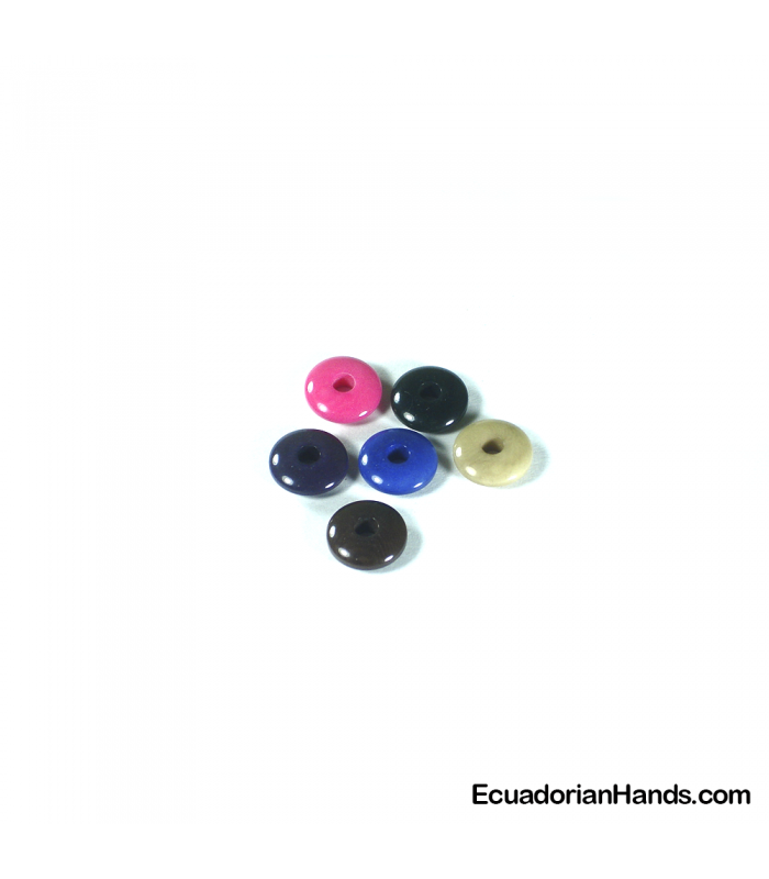 Lentil 12mm Hg Tagua Seed Bead (1 unit)