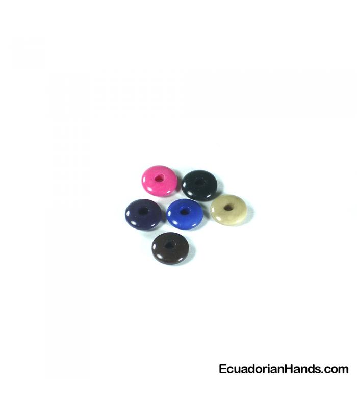 Lentil 12mm Hg Tagua Seed Bead (1 unit)