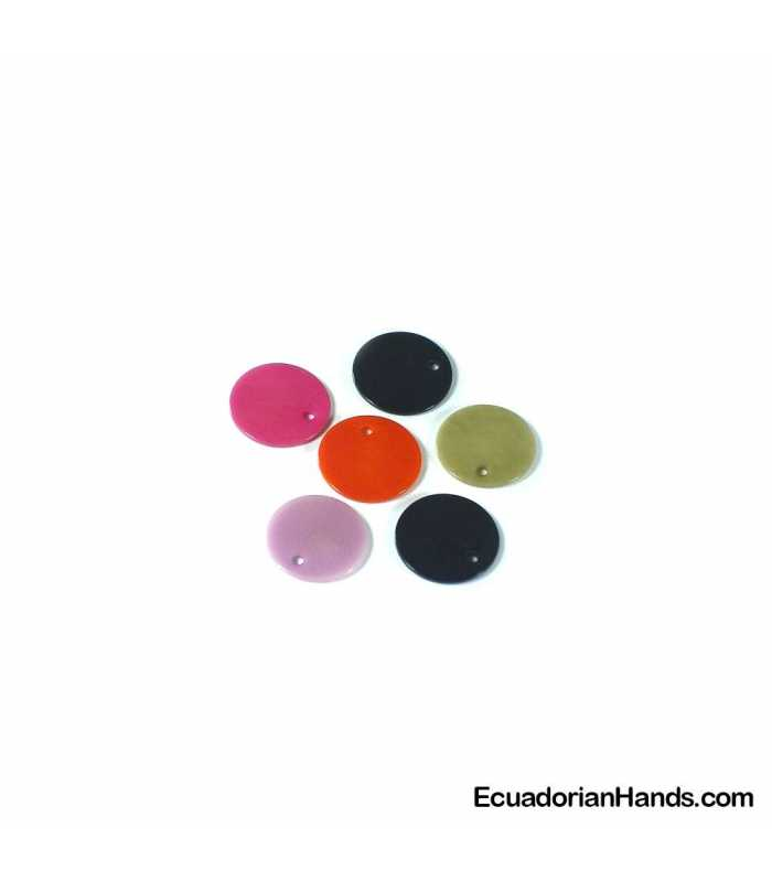 Thin Tab Lin 24 Tagua Bead (1 unit)