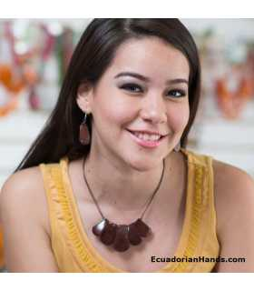 Set Necklace & Earrings (ASSORTED) Wholesale Tagua Jewelry Handmade EcoIvory - Jc001