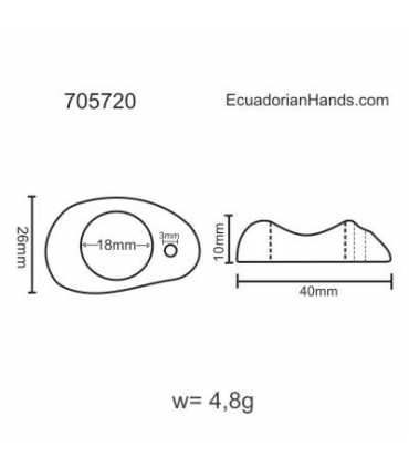 Donut H15mm Tagua Bead (8 units) YELLOW